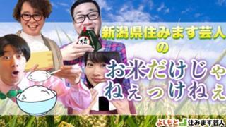 新潟県住みます芸人のお米だけじゃねぇっけねぇ